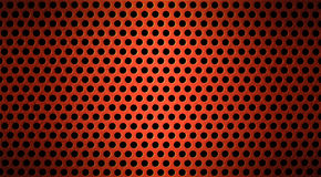 Red metal grid or grilled background Royalty Free Stock Photo