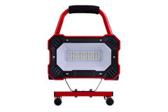 Red metal LED work light Royalty Free Stock Photography