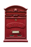 Red metal mail box isolated Royalty Free Stock Image