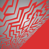 Red metal maze Royalty Free Stock Photos