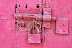 Red Metal Padlock Royalty Free Stock Photo