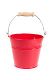 Red metal pail Royalty Free Stock Images
