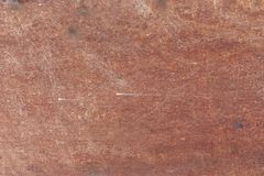 Red metal plate rust. Grunge metal plate, abstract old metallic background Royalty Free Stock Photos