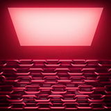 Red metal plate with some reflection. 3d rendered Stock Images