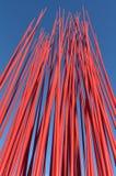 Red metal poles Royalty Free Stock Image