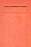 Red metal rusty door Royalty Free Stock Photography