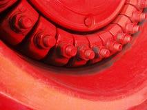 Red metal screws Royalty Free Stock Photo