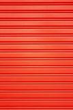 Red metal security roller door background Stock Photography
