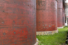 Red Metal Silos Royalty Free Stock Image