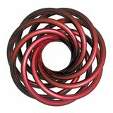 RED metal - spiral - wave Royalty Free Stock Photography