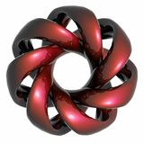 RED metal - spiral - wave Royalty Free Stock Images