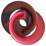 RED metal - spiral - wave Stock Photography