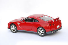 Red metal sport car model Stock Image