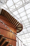 Red metal staircase Royalty Free Stock Images
