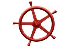 Red metal steering wheel Stock Image