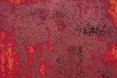 Red metal surface, texture Royalty Free Stock Photography