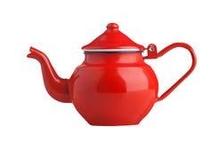 Red metal teapot Royalty Free Stock Image