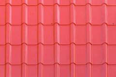 Red metal tile pattern Stock Images