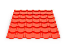 Red metal tile sheet Royalty Free Stock Photography