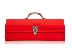 A red metal toolbox Royalty Free Stock Photography