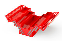 Red Metal Toolbox Stock Photos