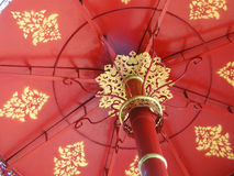 Red metal umbrella Royalty Free Stock Images