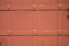 Red metal vintage door Stock Photography