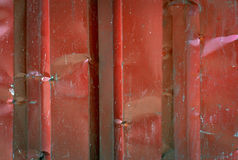 Red metal wall Stock Images