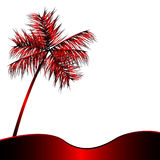 Red metalic palm Royalty Free Stock Photos