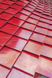 Red metalized roof tiles Royalty Free Stock Image