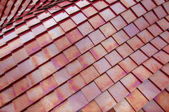 Red metalized roof tiles Royalty Free Stock Images