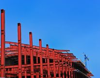 Red metall construction stock images