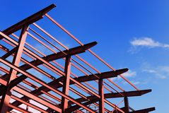 Red metall construction stock photos