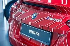 Red Metallic BMW Z4 Sport car stock image
