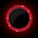 Red Metallic Circle Stock Photography