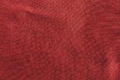 Red metallic cloth. Close view of red metallic woven cloth Stock Images
