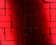 Red metallic cubes background. Abstract background with metallic red cubes, 3d rendering Royalty Free Stock Images