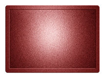 Red Metallic Plate. And clippingpath for white background removal Royalty Free Stock Image