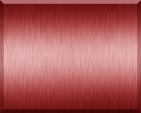 Red Metallic Plate. Red metallic texture and background Royalty Free Stock Images