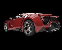 Red metallic sports car on black Stock Photos