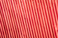 Red metallic striped rooftop Royalty Free Stock Images