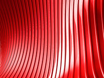 Red metallic stripes abstract glossy background. 3d render illustration Royalty Free Stock Images