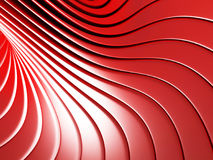 Red metallic stripes abstract glossy background. 3d render illustration Royalty Free Stock Photography