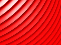 Red metallic stripes abstract glossy background. 3d render illustration Royalty Free Stock Photo
