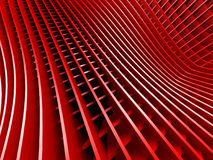 Red metallic stripes abstract glossy background. 3d render illustration Royalty Free Stock Image