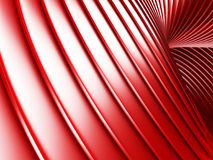 Red metallic stripes abstract glossy background. 3d render illustration Royalty Free Stock Photos