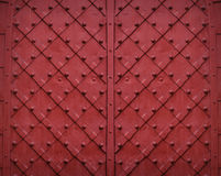 Red metallic texture background with square pattern Royalty Free Stock Photos