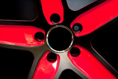 Red Metallic tyre disc Royalty Free Stock Photography