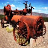 Red Metallic Vintage Machine Royalty Free Stock Photography
