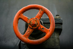 Red metallic wheel. Metal wheel on an old train royalty free stock photography